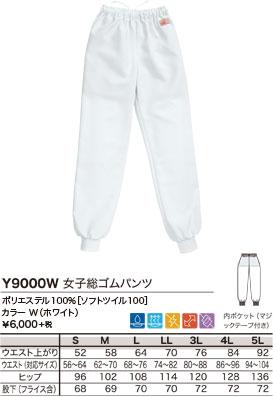 ポリエステル100%[ソフトツイル100]、カラー W(ホワイト)、¥6,000 +税