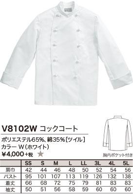ポリエステル65%、綿35%[ツイル]、カラー W(ホワイト)、¥4,000 +税 ★