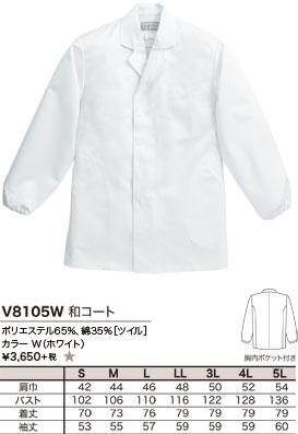 ポリエステル65%、綿35%[ツイル]、カラー W(ホワイト)、¥3,650 +税 ★