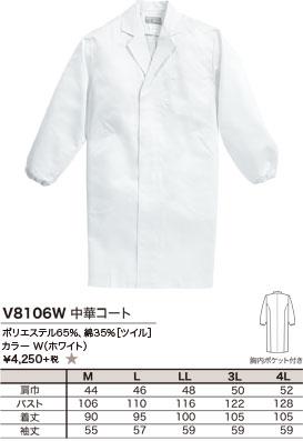 ポリエステル65%、綿35%[ツイル]、カラー W(ホワイト)、¥4,250 +税 ★
